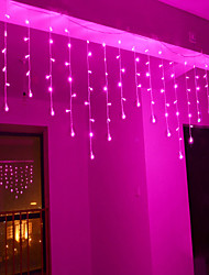 cheap -4m 96 LEDs Icicle Curtain Light with Memory Function can be Linkable to the Light String White Blue Warm White Pink Purple Multi-color 110-120V 1pc