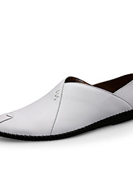 abordables -Homme Chaussures en cuir Cuir Nappa / Cuir Printemps été Simple Mocassins et Chaussons+D6148 Respirable Noir / Rouge clair / Brun Foncé / Chaussures de conduite