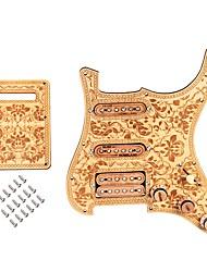 cheap -Guitar Accessory Guitar Pickguard Wood Electric Guitar SSH05 for Acoustic and Electric Guitars Musical Instrument Accessories 28.3*22.5*2.3 cm