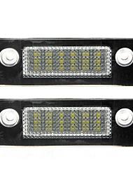 Недорогие -2pcs Автомобиль Лампы 18 Светодиодная лампа Подсветка для номерного знака Назначение Ford Все года
