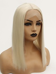 cheap -Synthetic Lace Front Wig Straight Middle Part Lace Front Wig Blonde Short Blonde Synthetic Hair 12-16 inch Women's Heat Resistant Women Hot Sale Blonde / Glueless
