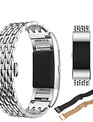 cheap -Watch Band for Fitbit Charge 2 Fitbit Classic Buckle / Butterfly Buckle Steel / Stainless Steel Wrist Strap