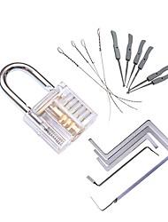 Недорогие -прозрачный видимый отбойный замок с замком для ключей с сломанным ключом