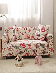abordables -Housse de canapé Plantes / Romantique Teinture Mélange de Polyester & Coton Literie