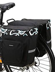 abordables -ROSWHEEL 30 L Sac de Porte-Bagage / Double Sacoche de Vélo Sacs de Porte-Bagage Ajustable Grande Capacité Etanche Sac de Vélo Maille 600D Polyester Sac de Cyclisme Sacoche de Vélo Vélo de Route Vélo