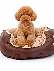cheap -Dog Cat Pets Mattress Pad Bed Bed Blankets Warm Washable Cartoon Pet Liners Oxford Cloth Footprint / Paw Brown