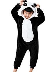 abordables -Enfant Pyjamas Kigurumi Panda Animal Combinaison de Pyjamas Flanelle Toison Noir Cosplay Pour Garçons et filles Pyjamas Animale Dessin animé Fête / Célébration Les costumes