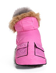cheap -Dogs Coat Jacket Winter Dog Clothes Blue Pink Costume Corgi Beagle Bulldog Terylene Solid Colored Casual / Daily Warm Ups XS S M L XL