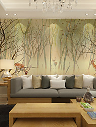 cheap -Wallpaper / Mural Canvas Wall Covering - Adhesive required Painting / Botanical / Art Deco