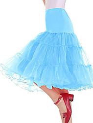 cheap -Petticoat Hoop Skirt Tutu Under Skirt 1950s Pink Fuchsia Ink Blue Petticoat / Crinoline