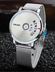 Недорогие -Муж. Нарядные часы Кварцевый Серебристый металл Новый дизайн Повседневные часы Цифровой На каждый день Мода - Черный Серебряный