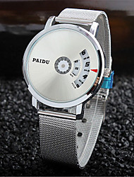 cheap -Men's Dress Watch Quartz Silver New Design Casual Watch Digital Casual Fashion - Black Silver
