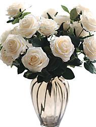 cheap -Artificial Flowers 1 Branch Classic Wedding Wedding Flowers Roses Eternal Flower Tabletop Flower