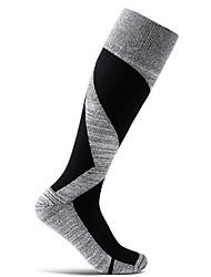 cheap -Men's Women's Athletic Sports Socks Cycling Socks Compression Socks Breathable Anti-Slip Soft Sweat-wicking Support Black Fuchsia Red Cotton Elastane Winter Road Bike Mountain Bike MTB Running Solid