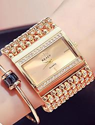 cheap -Women's Wrist Watch Gold Watch Quartz Vintage Water Resistant / Waterproof Analog Gold Silver / Stainless Steel