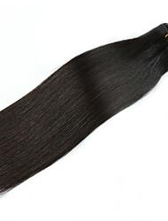 Недорогие -1 комплект Бразильские волосы Естественный прямой Шелковисто-прямые человеческие волосы Remy 110 g Уход за волосами Удлинитель Накладки из натуральных волос 14 дюймовый Нейтральный / Необработанные