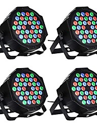 cheap -4pcs 36 W 1000-1200 lm 36 LED Beads Easy Install Tri-color LED Stage Light Spot Light RGB 110-240 V Ceiling Commercial Stage