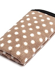cheap -Dogs Cats Pets Mattress Pad Car Seat Cover Towels Bed Blankets Blankets Plush Fabric Plush Portable Warm Foldable Polka Dot Brown Red Green