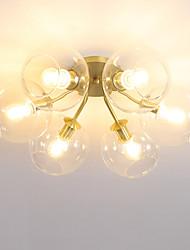 cheap -JLYLITE 6-Light 45 cm Mini Style Flush Mount Lights Metal Glass Circle Electroplated Artistic / Modern 110-120V / 220-240V / E12 / E14