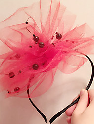 cheap -Tulle / Alloy Headbands with Flower 1 Piece Special Occasion / Daily Wear Headpiece