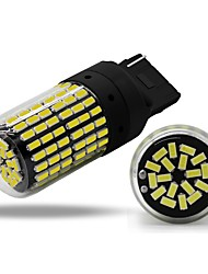 cheap -1pcs T20(7440,7443) / W21W / WY21W Car Light Bulbs 4 W SMD 3014 450 lm 144 LED Turn Signal Lights For universal All years