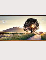 cheap -Print Stretched Canvas Prints - Landscape Modern Modern Art Prints