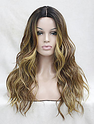 cheap -Synthetic Wig Wavy Beyonce Wavy Layered Haircut Wig Ombre Long Brown Synthetic Hair Women's Heat Resistant Ombre hairjoy