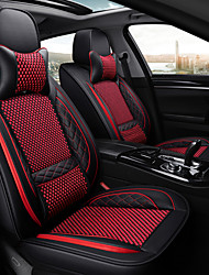 cheap -chelaiyi Car Seat Covers Headrest & Waist Cushion Kits Black / Black / Red / Black / White Textile / leatherette Common For universal All years All Models
