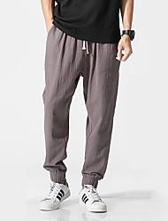 cheap -Men's Jogger Pants Joggers Running Pants Harem Beam Foot Sports Sweatpants Bottoms Gym Workout Lightweight Quick Dry Plus Size Solid Colored Black White Grey Khaki