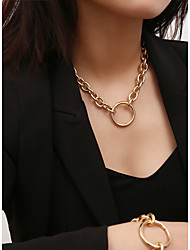 cheap -Women's Choker Necklace Pendant Necklace Chrome Gold Silver 40 cm Necklace Jewelry 1pc For Gift Daily Date Street Festival