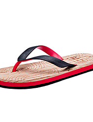 cheap -Men's Comfort Shoes Rubber Summer Slippers & Flip-Flops Black and White / Black / Red / Black / Blue
