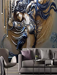 cheap -Wallpaper / Mural / Wall Cloth Canvas Wall Covering - Adhesive required Art Deco / 3D / Angel