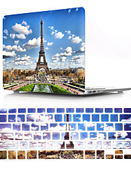 cheap -Eiffel tower Protector Cover for MacBook Pro Retina 11/12/13/15 Inch Case Pvc Hard Shell and Keyboard Membrane US English
