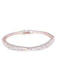 cheap -Women's Bracelet Bangles Classic Stylish Simple European Sweet Rhinestone Bracelet Jewelry Silver / Rose Gold For Daily