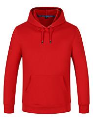 cheap -Men's Sweatshirt Outdoor Windproof Breathable Quick Dry Top Cotton N / A Casual Indoor School Orange / Yellow / Red / Blue