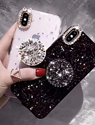 cheap -Case For Apple iPhone 11 / iPhone 11 Pro / iPhone 11 Pro Max Rhinestone / with Stand Back Cover Glitter Shine Hard TPU