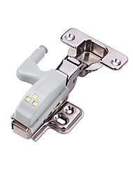 Недорогие -сенсорный контроль новинка светодиодная лампа кухонный шкаф шкаф шкаф дверной петли свет ночник аварийная лампа