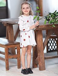 Недорогие -Дети Девочки Фрукты Выше колена Платье Белый
