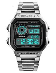 cheap -SKMEI Men's Digital Watch Digital Casual Water Resistant / Waterproof Digital Rose Gold Black Gold / Stainless Steel / Calendar / date / day / Chronograph / Stopwatch / Noctilucent