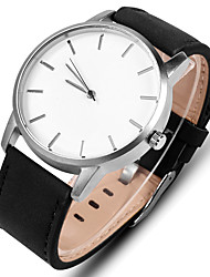 cheap -Men's Sport Watch Dress Watch Wrist Watch Quartz Leather Black / Brown Casual Watch Analog Casual Minimalist Simple watch - Black Brown Black / White One Year Battery Life
