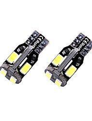 cheap -2pcs T10 / W5W Car Light Bulbs 1.35 W SMD 5730 10 LED License Plate Lights / Interior Lights / Side Marker Lights For universal All years