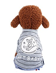 cheap -Dogs Outfits Denim Jacket / Jeans Jacket Dog Clothes Bronze Pink Gray Costume Corgi Beagle Bulldog Fabric Solid Colored Character Casual / Daily Simple Style XS M L XL