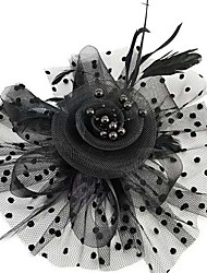 cheap -Fabrics / Alloy Headdress / Hair Clip with Flower 1 Piece Special Occasion / Daily Wear Headpiece