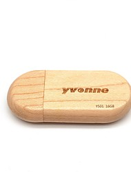 cheap -yvonne 16GB usb flash drive usb disk USB 2.0 Wooden / Wooden / Bamboo Semicircle New Design / Geometric Pattern / Lovely Y501