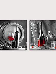 Недорогие -С картинкой Роликовые холсты Отпечатки на холсте - Натюрморт Продукты питания Modern Репродукции