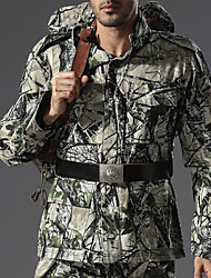 cheap -Men's Camo Hiking Shirt / Button Down Shirts Long Sleeve Outdoor Windproof Quick Dry Wear Resistance Top Autumn / Fall Spring Cotton Hunting Camping / Hiking / Caving Back Country Green / Black Army