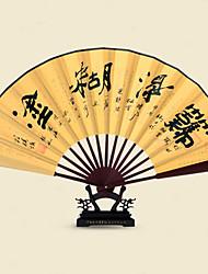 Недорогие -Взрослые Муж. Жен. азиатский кисточка В китайском стиле Косплэй Kостюмы Назначение Для вечеринок На каждый день Подарок Шелковая ткань Бамбук Складной ручной вентилятор