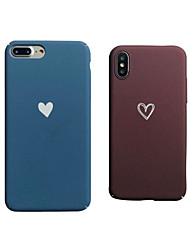 cheap -Case For Apple iPhone XS / iPhone XR / iPhone XS Max Frosted Back Cover Heart Hard PC