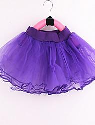 cheap -Petticoat Hoop Skirt Tutu Under Skirt 1950s Blue Pink Fuchsia Petticoat / Kid's / Crinoline