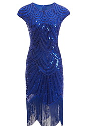 cheap -Women's Cocktail Party Homecoming Basic Slim Bodycon Dress - Solid Colored Tassel Blue S M L XL